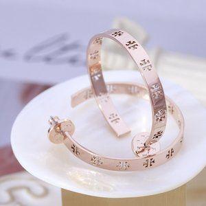 🎁Tory Burch Simple Hollow C-shaped Stud Earrings